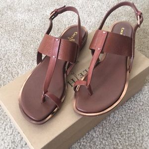 Cole Haan Pelham Strap Sandal Brown Size 6